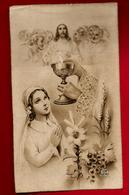Image Pieuse Religieuse Holy Card Communion J. Montba Montla ? 11-08-1940 - Devotion Images