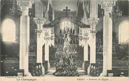 CPA 51 Marne Pierry Intérieur De L'Eglise Fête De Jeanne D'Arc Vive La Champagne - Francia