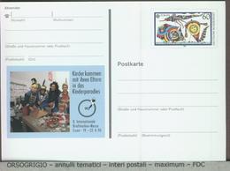 GERMANIA - Cartolina Intero Postale - GANZSACHEN - AQUILONE - CERVO VOLANTE - DRACHEN - KITE - Giochi