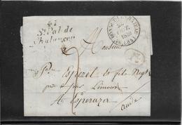 Cursive 41/ St Pal De / Chalançon & Type 14 Bonnet Le Chateau 1840 - Marcophilie (Lettres)