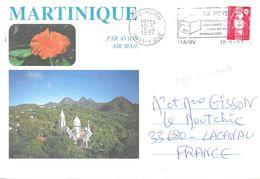 """Martinique 972 Marin 12-5 1997 O= """" La Poste Courrier Et Colis Mieux Distribués..dans Boîte Normalisée"""" - Marcophilie (Lettres)"""