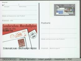 GERMANIA - Cartolina Intero Postale - GANZSACHEN - PIANO MARSHALL - GRU - MARSHALLPLAN - Fabbriche E Imprese