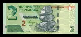"""Zimbabwe 2 Dollars 2016 Pick 99 With """"Bond Note"""" SC UNC - Zimbabwe"""