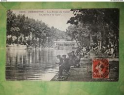CHARENTON - Les Bords Du Canal - La Pêche à La Ligne -  Très Beau Plan - Charenton Le Pont