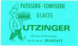 Autocollant -  PATISSERIE UTZINGER - PFASTATT  HAUT RHIN 68 - Autocollants