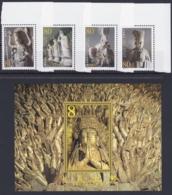 "CHINA 2002, ""Stone Sculptures Of Dazu"", FDC + Serie And Block 108 Unmounted Mint - Blocks & Kleinbögen"