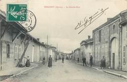 CPA 51 Marne Herpont La Grande Rue - Francia