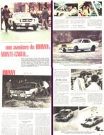 """REPORTAGE  """" JOHNNY HALLYDAY """" """" AU RALLYE De MONTE-CARLO """" 1967 - Other"""