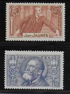 1936 - YVERT N° 318/319 * MLH  - COTE = 19 EUR. - Frankreich