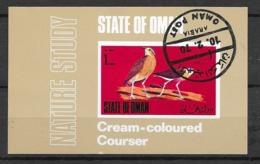 Oman Bloc  FDC 10/02/1970 Oiseau Du Désert Cream Coloured Courser Oblitéré TB   Soldé  Le Moins Cher Du Site ! ! ! - Gallinacées & Faisans