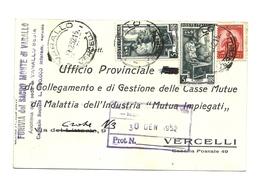 1952 - Italia - Cartolina Timbro Varallo        13/67 - 6. 1946-.. Repubblica