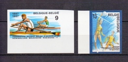 2259/2260 Olympische Spelen ONGETAND POSTFRIS** 1987 - Belgique