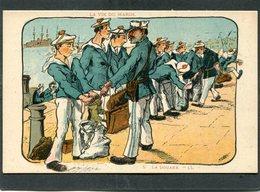 CPA - Illustration SNAS - LA VIE DU MARIN - La Douane - Guerre