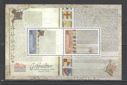 RR769 GIBRALTAR HISTORY 800TH ANNIVERSARY OF MAGNA CARTA BL124 !!! MICHEL 13 EURO !!! 1BL MNH - Storia