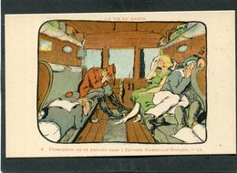 CPA - Illustration SNAS - LA VIE DU MARIN - Permission De 24 Heures Dans L'Express Marseille-Toulon - Guerre