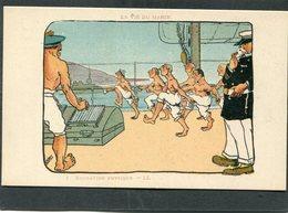 CPA - Illustration SNAS - LA VIE DU MARIN - Education Physique - Guerre