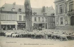 CPA 51 Marne Fère-Champenoise Troupeau De Moutons Henri Richon Cordonnerie Le Familistère Dhyvert Rongemaille - Fère-Champenoise