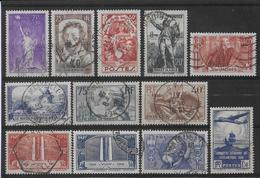 1936 - YVERT N° 309/320 BELLES OBLITERATIONS ! - France
