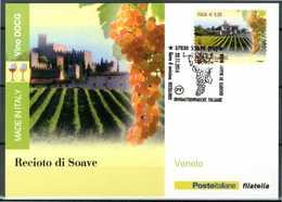 ITALIA / ITALY 2014 - Vino DOCG - Recioto Di Soave - Veneto - Maximum Card Come Da Scansione. - Vini E Alcolici