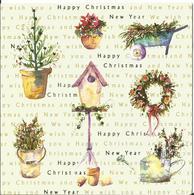 ARROSOIR FLEUR ILLUSTRATEUR HELEN WILSON 2005 FLEUR BROUETTE SAPIN CHRISTMAS JOYEUX NOEL CP DOUBLE ANGLAISE - Mother's Day