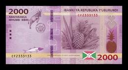 Burundi 2000 Francs Antelope 2018 Pick 52b New Date SC UNC - Burundi