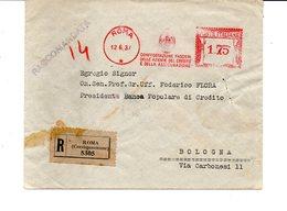 1937 EMA Affrancatura Meccanica Rossa Freistempel Roma Confederazione Fascista Aziende Credito E Assicurazione - Affrancature Meccaniche Rosse (EMA)