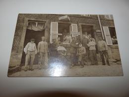 ARDENNES CHEMERY SUR BAR CARTE PHOTO SOLDATS ALLEMANDS CHEZ LE BARBIER 1914 1918 - Otros Municipios
