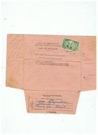 AVIS DE RECEPTION TIMBRE N° 303 BENJAMIN BARON DELESSERT 1935 - Marcophilie (Lettres)