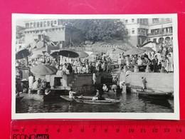 India Varanasi Sacred Ganges Boat 1958 - Lieux