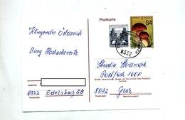 Carte Postale 4 Champignon Cachet Edelsbach - Ganzsachen