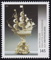 3228 Museumsschätze Jacob Zeller: Fregatte Aus Elfenbein, Nassklebend ** - BRD