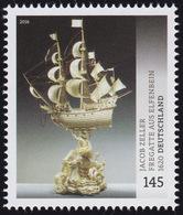 3228 Museumsschätze Jacob Zeller: Fregatte Aus Elfenbein, Nassklebend ** - [7] République Fédérale