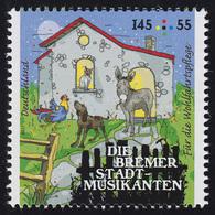 3284 Grimms Märchen - Die Bremer Stadtmusikanten 145 Cent ** - BRD