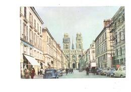Cpm - 45 - Orleans - Cathédrale - Voiture TRACTION CITROEN - ARONDE SIMCA PANHARD FREGATE Travaux échafaudage Vélo - Orleans