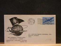 83/959 LETTRE   USA 1945 1 FLIGHT - Posta Aerea