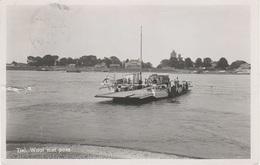 AK Tiel Waal Met Pont Auto Veerboot Ferry Fähre A Dreumel Wamel Beneden Leeuwen Druten Geldermalsen Gelderland Nederland - Tiel