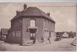 VENDHUILE (02 Aisne) - Rue Neuve Et Restaurant Cornaille - France