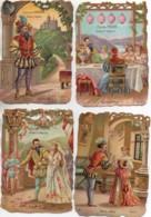 POULAIN Série Complète De 12 Chromos Gauffrées : BARBE-BLEU (format 9x13 ) - Poulain