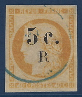 France Colonies Réunion N°6b 5c Sur 40c Variété Chiffre 4 Retouchés Tres Frais & Superbe Aspect Signé Calves - Réunion (1852-1975)