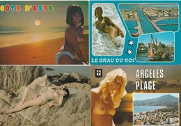 LOT N° 18 . EROTISME . LOT DE 16 CPM FEMME NUS - Cartes Postales