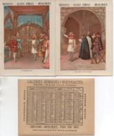 Belle Séries De 6 Chromos Galeries Rémoises Sur La Vie De JEANNE-D'ARC (format 11x14,5) Avec Calendrier 1890 Audos - Artis Historia