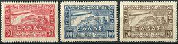 Greece 1933. Michel #352/54 VF/MLH. Italian Flight Of The Airship Graf Zeppelin (B03) - Neufs