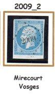 France : Petit Chiffre N°2009 : Mirecourt (  Vosges  ) Indice  2 - Marcophilie (Timbres Détachés)