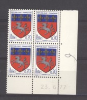 CD  187  -  France  -  Coins Datés  :  Yv  1510c  **     23-6-77 - Ecken (Datum)