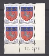 CD  188  -  France  -  Coins Datés  :  Yv  1510c  **     17-2-78 - Ecken (Datum)
