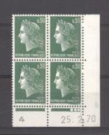 CD  189  -  France  -  Coins Datés  :  Yv  1611b  **     25-2-70 - Ecken (Datum)