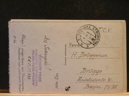 83/962  CP  POLOGNE  POUR LA BELG.  1936 - 1919-1939 Republic