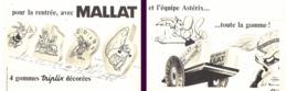 """PUB GOMME """" MALLAT """"  Et  """" ASTERIX Et OBELIX  """"   1967 - Astérix"""