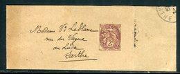 Bande Journal Au Type Blanc Pour Le Lude En 1909 - Réf N 47 - Enteros Postales