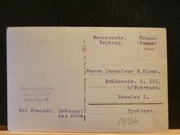 83/969  CP OBL. COPENHAGEN  FRANCO VERTE - 1913-47 (Christian X)